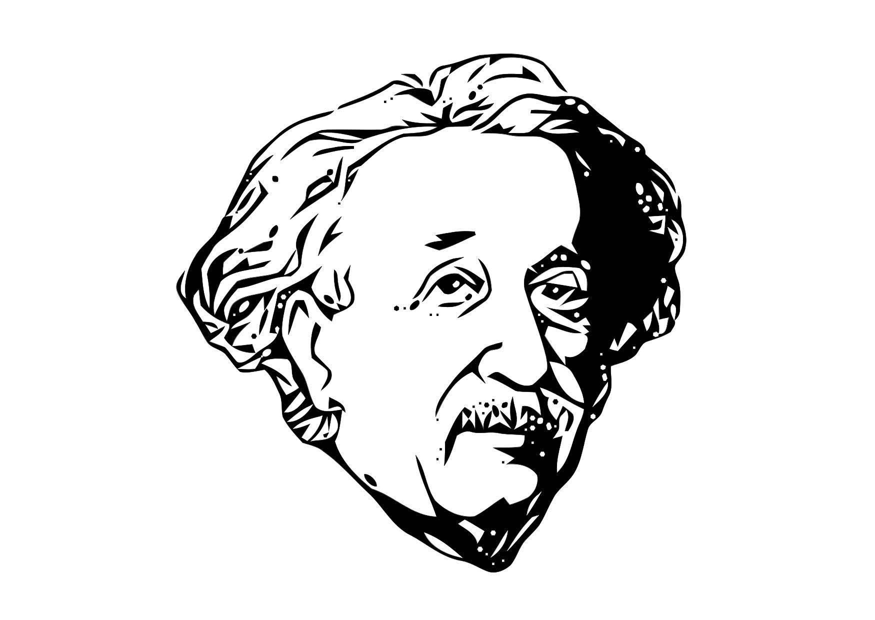 Dibujo para colorear Einstein - Img 11314