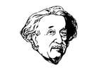 Dibujo para colorear Einstein