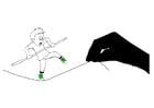 Dibujo para colorear ejercicio de equilibrio