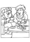 Dibujo para colorear El abuelo y la abuela