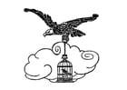 Dibujo para colorear el águila y el ruiseñor