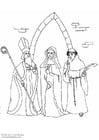 Dibujo para colorear El clero
