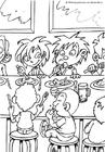 Dibujo para colorear El comedor