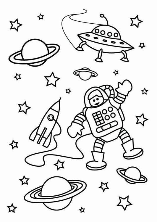Dibujo para colorear el espacio   Img 26795