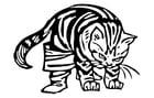 Dibujo para colorear el gato con botas