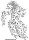 Dibujo para colorear El hombre del otoño
