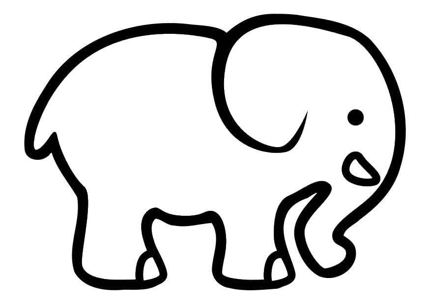 Dibujo para colorear Elefante  Img 10710