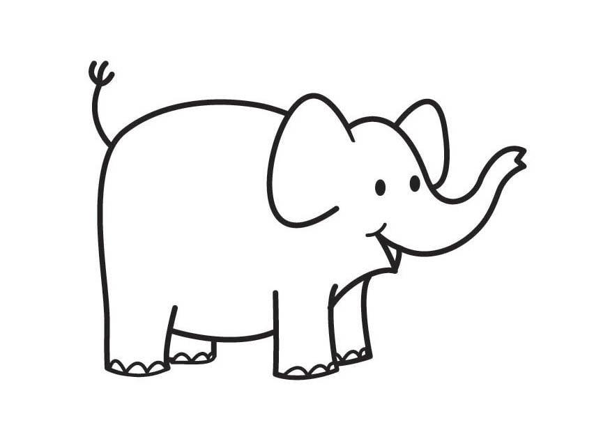 Dibujo para colorear elefante - Img 17810