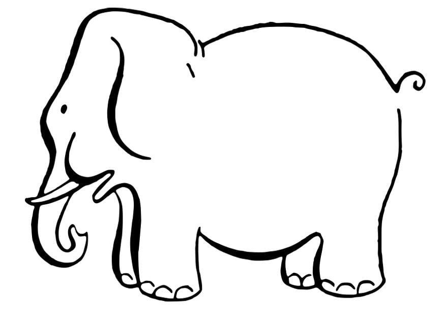 Dibujo para colorear elefante - Img 27845