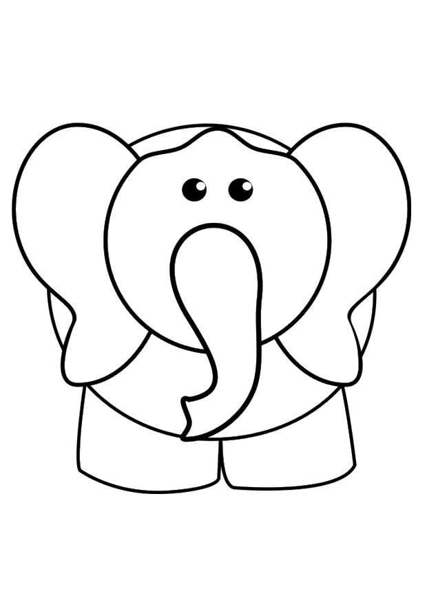 Dibujo para colorear elefante - Img 29425
