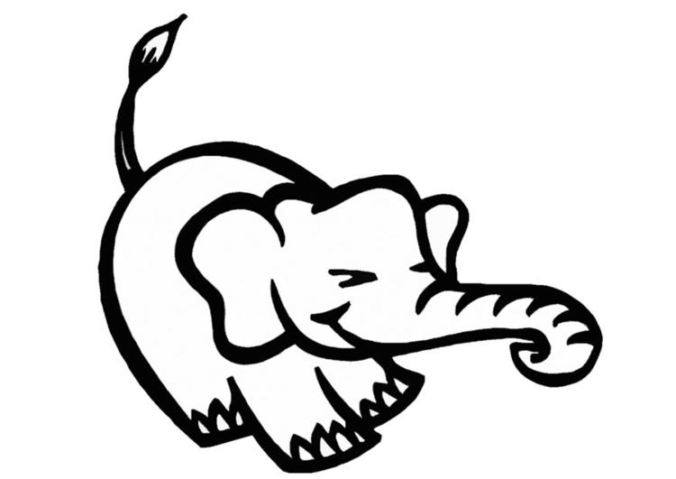 Dibujo para colorear Elefante - Img 9318