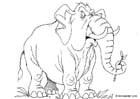 Dibujo para colorear Elefante