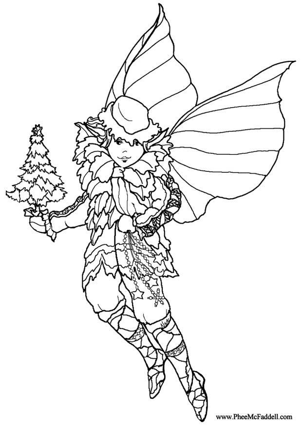 Dibujo Para Colorear Elfo De Navidad Img 8992