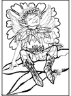 Dibujo para colorear Elfo de plata