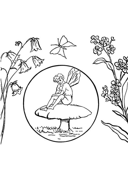 Dibujo Para Colorear Elfo Img 16594