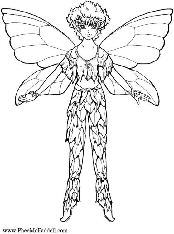 Dibujo para colorear Elfo   Img 6886