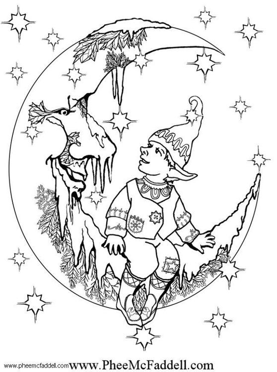 Dibujo Para Colorear Elfo Pequeño Dibujos Para Imprimir Gratis