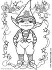 Dibujo para colorear Elfo pequeño