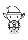 Dibujo Para Colorear Elfo Con Lápiz Img 8892