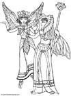Dibujo para colorear Elfos disfrazados