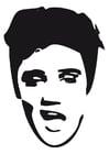 Dibujo para colorear Elvis Presley
