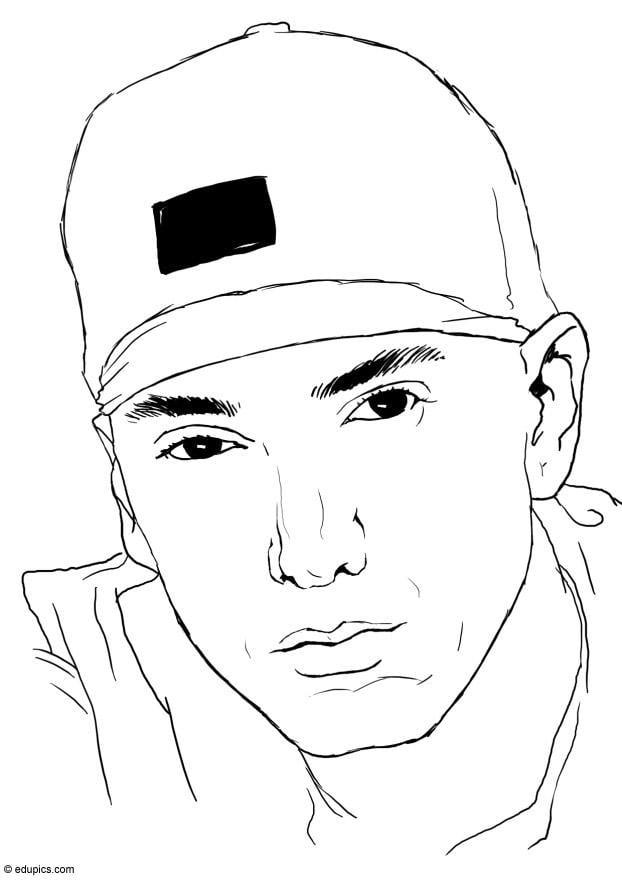 Dibujo para colorear Eminem - Img 15413