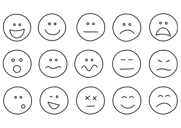 Dibujo para colorear emociones - Img 21994