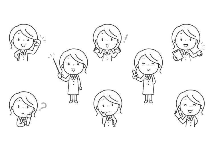 Dibujo Para Colorear Emociones Profesora Img 30292