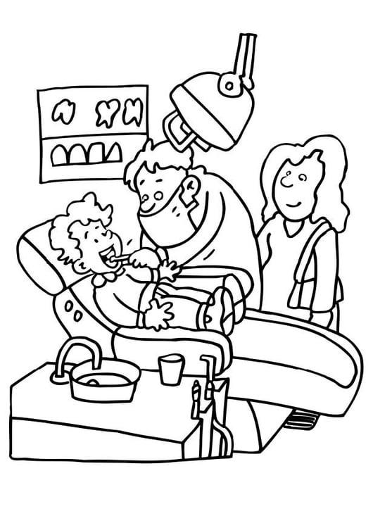 Dibujo para colorear En el dentista - Img 21176