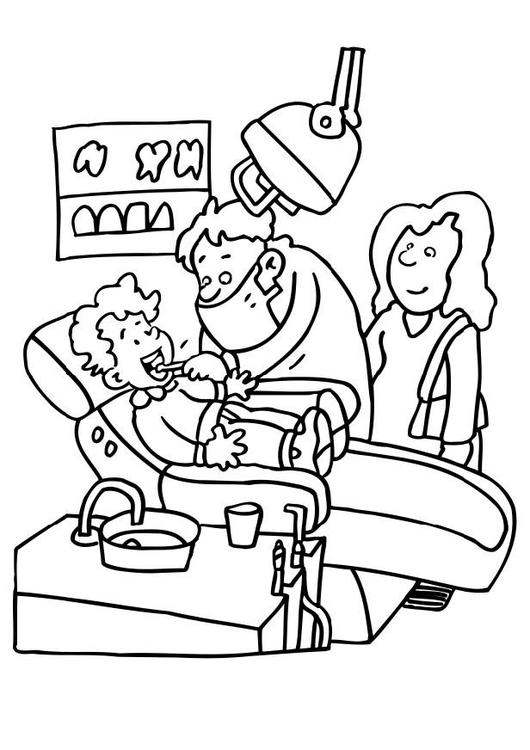 Dibujo para colorear En el dentista - Img 6482