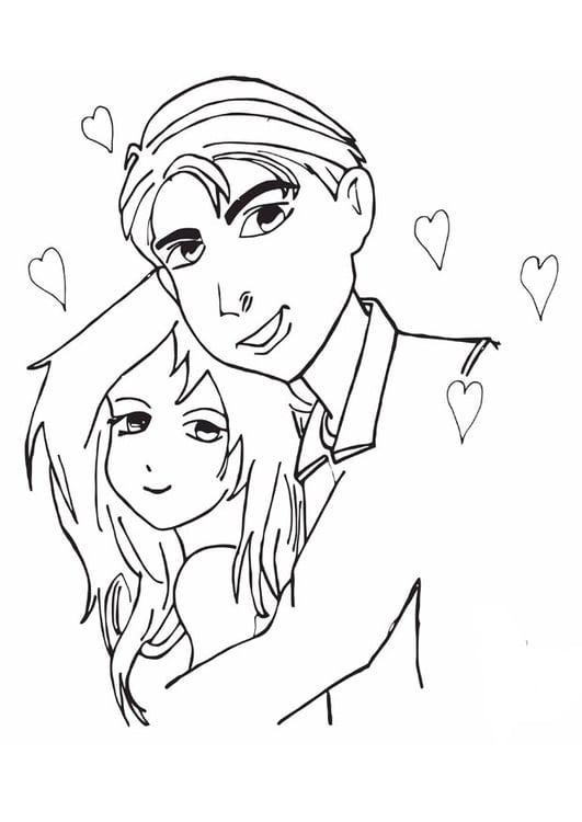 Dibujo Para Colorear Enamorados Img 13358