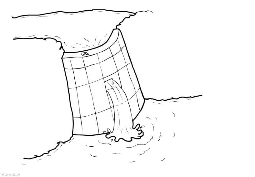 Dibujo Para Colorear Energia Hidraulica Presa Dibujos Para
