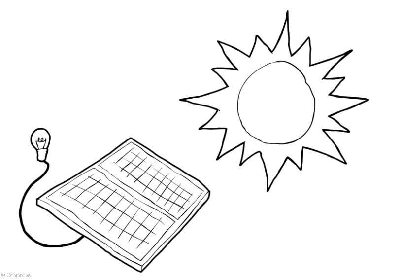 Dibujo para colorear Energía solar - Img 14415 Images