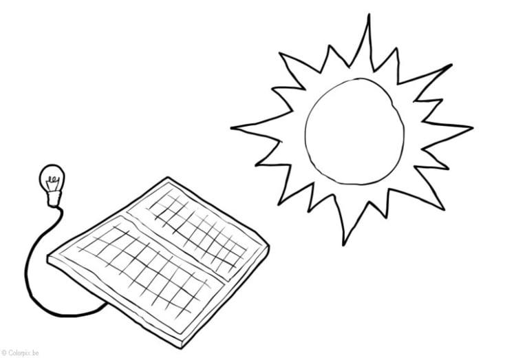 Dibujo Para Colorear Energia Solar Dibujos Para Imprimir Gratis