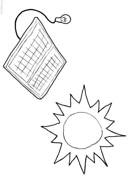 Dibujo para colorear Energía solar - Img 14415