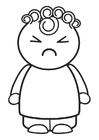Dibujo para colorear enfadado