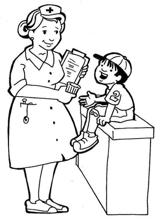 Dibujo Para Colorear Enfermera Dibujos Para Imprimir Gratis