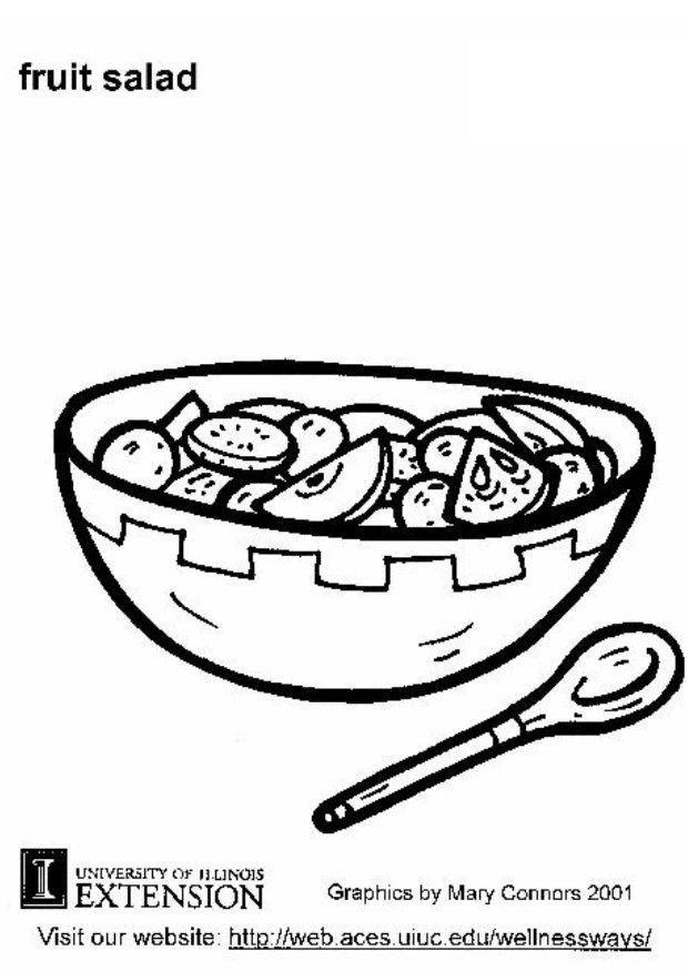 Dibujo para colorear Ensalada de fruta  Img 5804