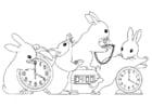 Dibujo para colorear Entender el reloj