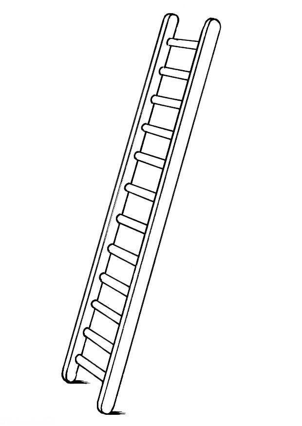 Dibujo para colorear escalera img 8180 for Escaleras largas