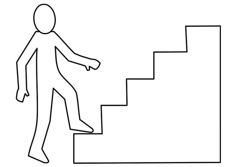 Dibujo para colorear escalera img 22474 for Como iluminar una escalera