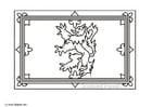 Dibujo para colorear Escocia- bandera real