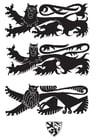 Dibujo para colorear Escudo con leones