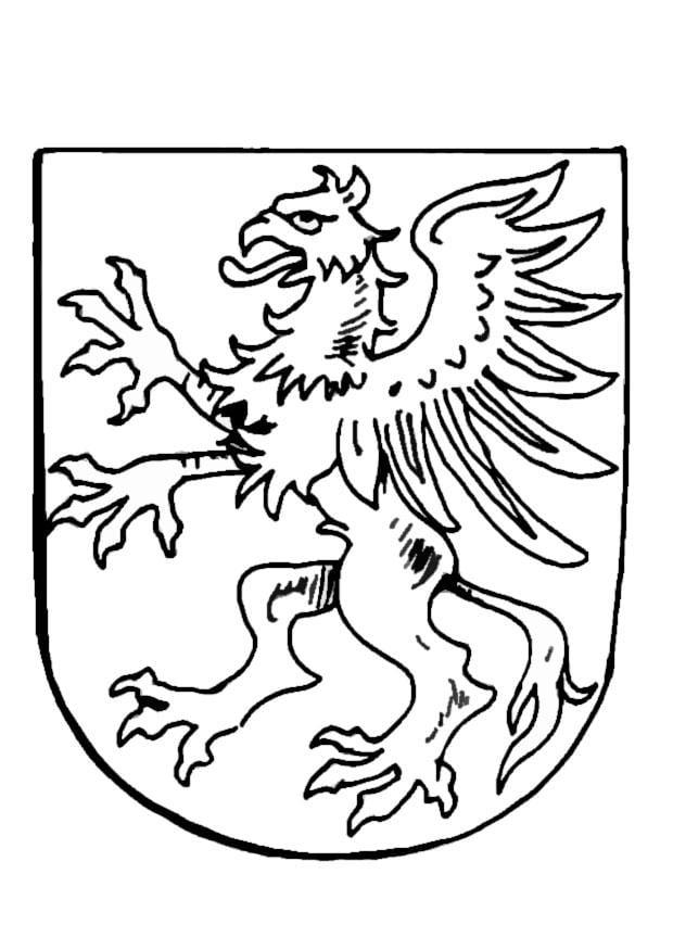 Dibujo para colorear Escudo de armas - Img 9081