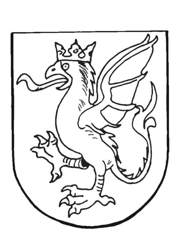 Dibujo para colorear Escudo de armas - Img 9082