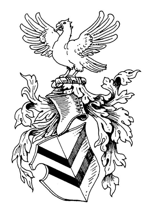 Dibujo para colorear Escudo de armas - Img 20664
