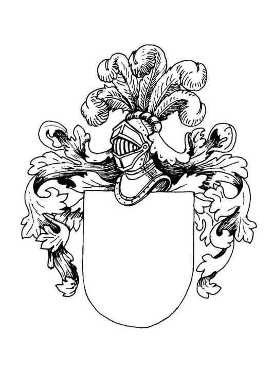 Dibujo para colorear Escudo de armas - Img 9080