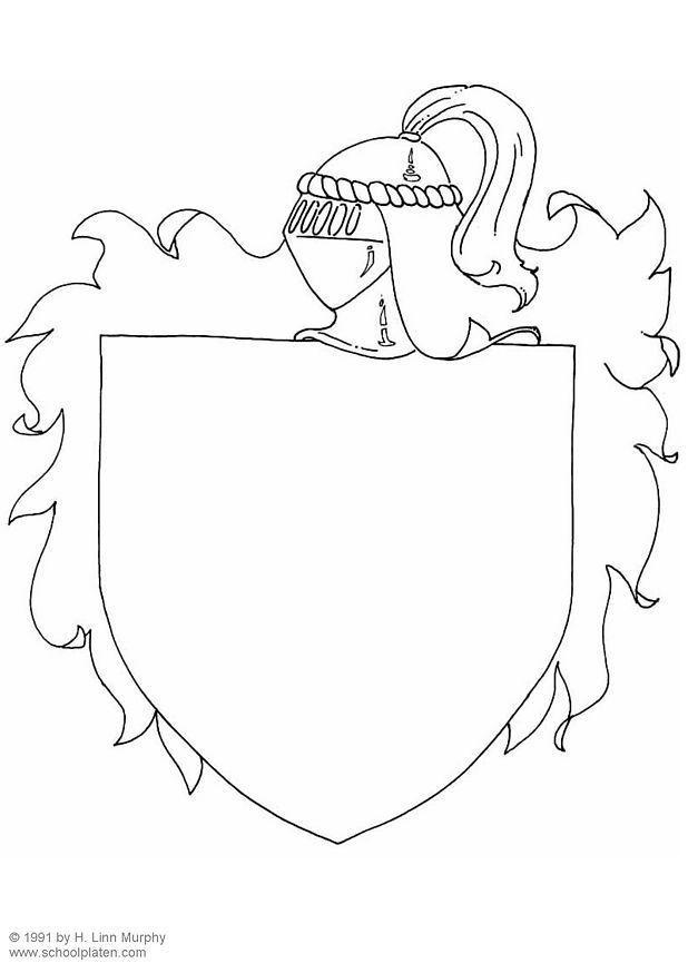 Dibujo para colorear Escudo - Img 3838