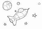Dibujo para colorear Espacio