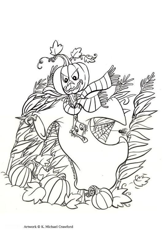 Dibujo para colorear Espantapájaros - Img 7354